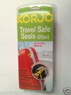 Korjo Travel Safe Seals For Luggage, Security, Bags, Suitcases (20/Pkt)