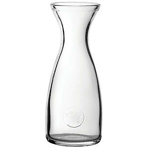 Economy Glass Wine Carafe 35oz / 1ltr - Set of 6 - Curved Wine Decanter