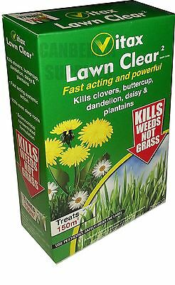 Vitax Lawn Clear 2 Weedkiller Kills Clovers Dandelions Buttercups Daisy 250Ml