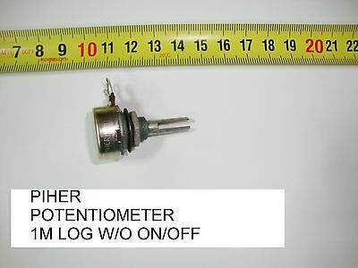 Potenciometro Carbon. Carbon Piher Potentiometer.1M Log S/i W/o On/off. P10