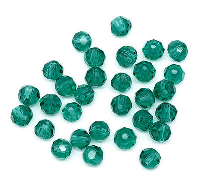 200  MALACHITE GREEN 4MM ROUND CRYSTAL (5000) QUARTZ BEADS~Bracelet~Charms (40A)