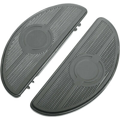 Drag Black Half-Moon Low Profile Driver Floorboards Harley Touring Softail FLD
