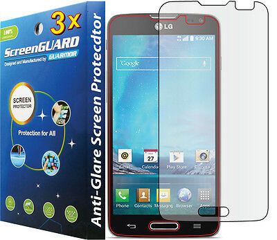 3x Anti-Glare LCD Screen Protector Guard Shield For T-Mobile LG Optimus L90 D405
