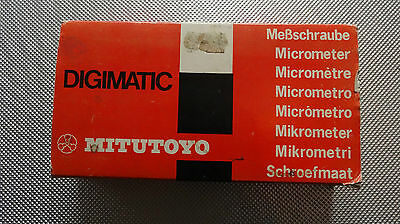 Mitutoyo Digimatic Micrometer 293-501 NOS NEW