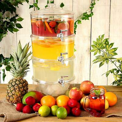 3-Tier Drink Dispenser 7.5ltr | Juice, Punch, Lemonade, Cocktail Dispenser