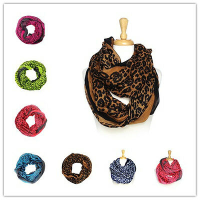 Wholesale 12ps Leopard Infinity Scarves New #6006