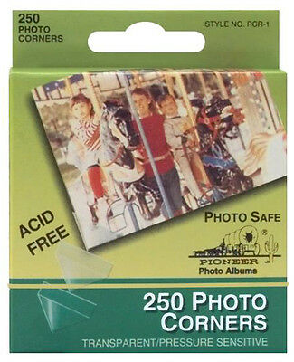 Pioneer Photo Corners Clear Self-Adhesive 250/box