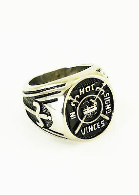 Stainless Steel Masonic Knights Templar In Hoc Signo Vinces Ring NEW!