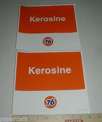 2 Union 76 KEROSINE gas station original vintage tank pump decal stickers 1995