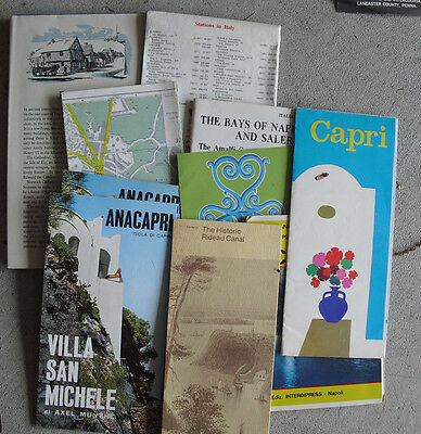 Lot of Vintage 1960s Europe Travel Booklets and Maps #4 LOOK