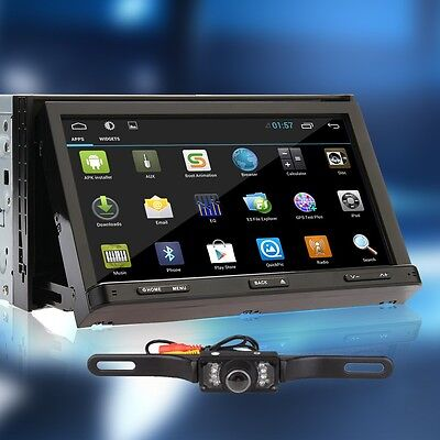 "NEW Double 2 DIN Android 4.2 Car GPS Stereo DVD Player 7"" 3G WiFi Capacitive+Cam"