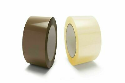 CLEAR / BROWN ROLLS - PACKING TAPE BOX CARTON SEALING - 2 INCH x 110 YARDS