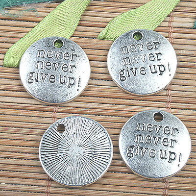 Alloy metal Tibetan Silver color round 19mm charms 11pcs EF0134