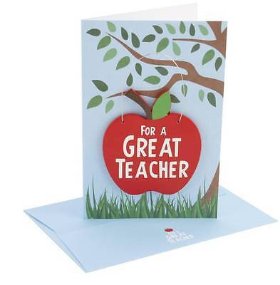 Two in One Teacher Card and Plaque - For a great Teacher - Gift/Card End of term