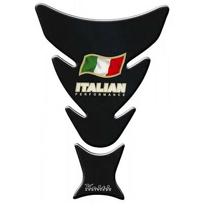 Keiti Motorcycle Fuel Tank Scratch Protector Pad Italian Flag Black KT6400K New