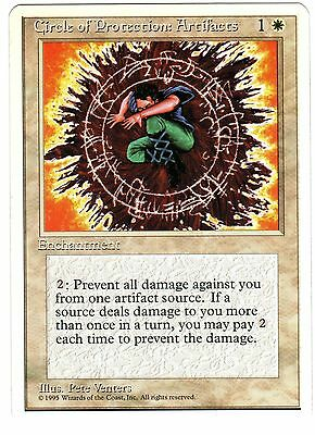 Circle of Protection: Artifacts ENGLISH 4° 4th Fourth Edition Magic cards NM-EXC
