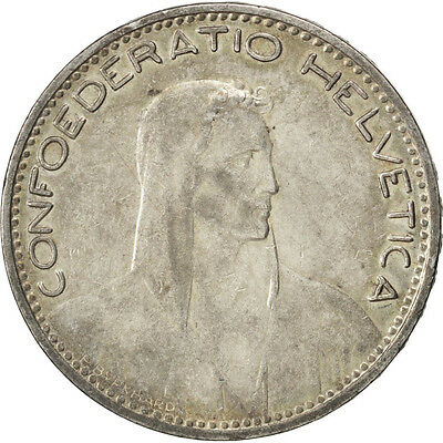 [#59429] SWITZERLAND, 5 Francs, 1923, Bern, KM #37, AU(50-53), Silver, 37, 25.01