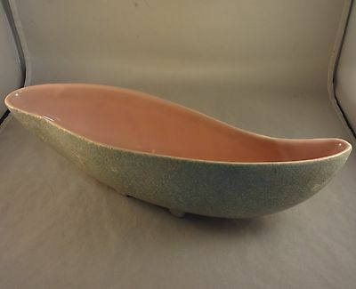 SHAWNEE Blue Green with Pink Interior TOUCHE LINE PLANTER #1011 Cucumber