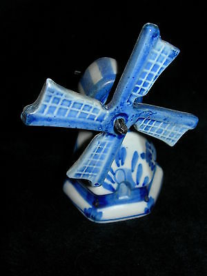 Antique Vintage Hand Painted Figure Ceramic Pottery Signed Holland Windmill