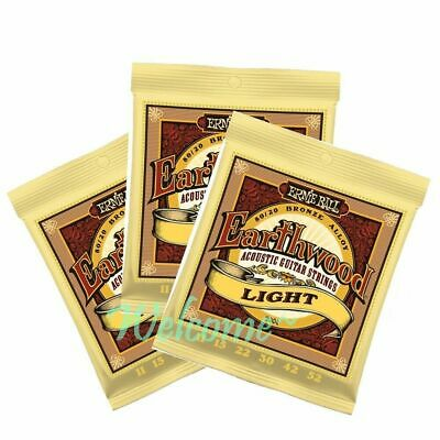 3 x Ernie Ball 2004 Earthwood Light 80/20  Acoustic Guitar Strings 11 - 52