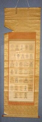 Rare Japanese Antique Buddhist Hanging Scroll Buddha God Zen