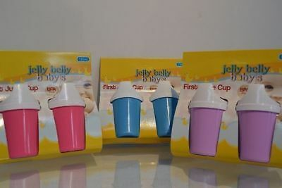 12 x Baby Toddler Juice Cup BPA Free 12 twin packs 3colours 155ml Wholesale Lot