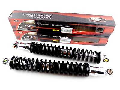 HONDA XL185 400mm BLACK/CHROME JBS REAR SHOCK ABSORBERS EYE TO EYE