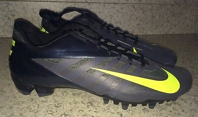 NIKE Vapor Pro Low LAX Lacrosse Cleats Dark Grey Volt Black NEW Mens Sz 8