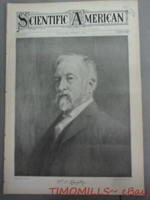 1904 Samuel Pierpont Langley on Cover Scientific American Antique