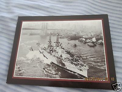 Uss Arizona Post Card East River New York 1916 Photo By E. Miller D170