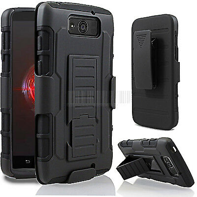 Armor Hard Cover Case Hybrid Rugged Holster For Motorola Droid Ultra/Maxx XT1080