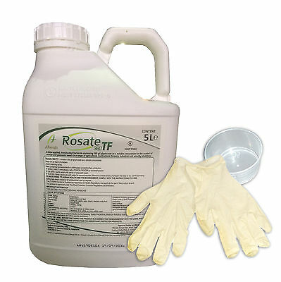 1 x 5 Litres Rosate 360 TF  Strong heavy duty Glyphosate Professional Weedkiller