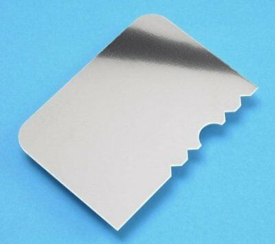 PME Stainless Steel Patterned Edge Side Scraper Cake Decorating Icing