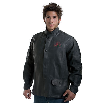 Tillman 3930 Black Onyx Heavy Duty Top Grain Cowhide Jacket - L