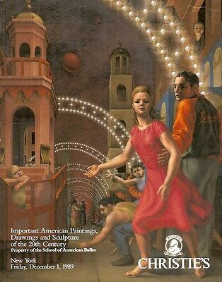 Christie's 20th C. Imp American Paintings American Ballet Auction Catalog 1989