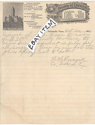 1906 Hallettsville Texas LAVACA County MEITZEN NOBLE BAGBY ATKINSON RUSSELL LONG