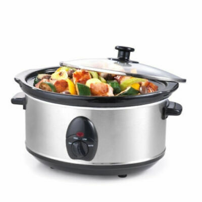 Maxim NSC-350SS Stainless Steel Slow Cooker Removable ceramic bowl 3.5L  Litre