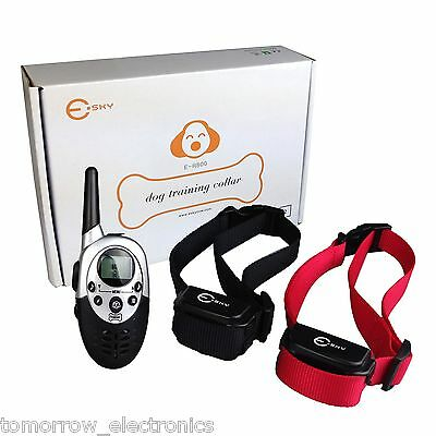 New 1000Yard Rechargeable LCD Remote Dog Training Shock Collar for 2 Dogs