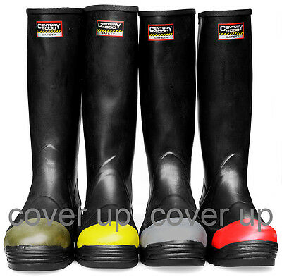 Century 4000 Safety Industrial Black Rubber Latex Dipped Wellingtons Wellies