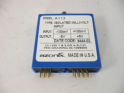A113 Azonix Isolated MilIivolt input