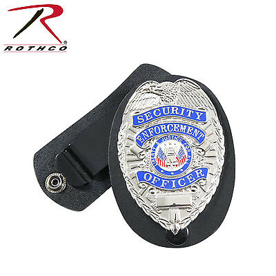 Rothco Deluxe Leather Clip-On Police Detective Badge Holder 1133