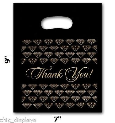 """THANK YOU BAGS THANK YOU PLASTIC BAGS STORE BAG JEWELRY BAGS WHOLESALE BAG 7""""x9"""""""