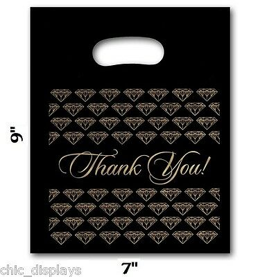 """Thank You Bags Merchandise Bags Plastic Retail Handle Bags Small 100 Bags 7""""x 9"""""""