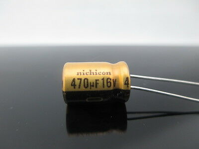 2PCS Nichicon KW 470uf 100v 470mfd audio ELECTROLYTIC Capacitor caps 16mm 25mm