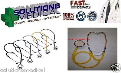 Stethoscope Medical  Boxed (Yellow) Dual Head Latex Free