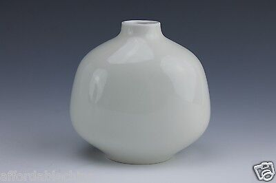 Small White Glazed Porcelain Signed KPM Bud Vase