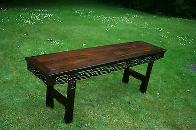 A Large Chinese Antique Low Table, Qing Dynasty 清代红酸枝矮长案 #20140091