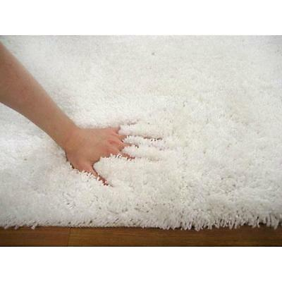 BELLA SHAGGY RUG WHITE Shag Large Plush Thick & Soft Floor Rug - Free Delivery*