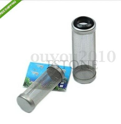 Tube de Filtre Filet à Mailles en Inox Protection Pr Aquarium Crevette Dia.16mm
