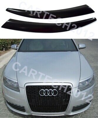 AUDI A6 C6 2004-2011 Eyebrows  ABS Plastic, tuning